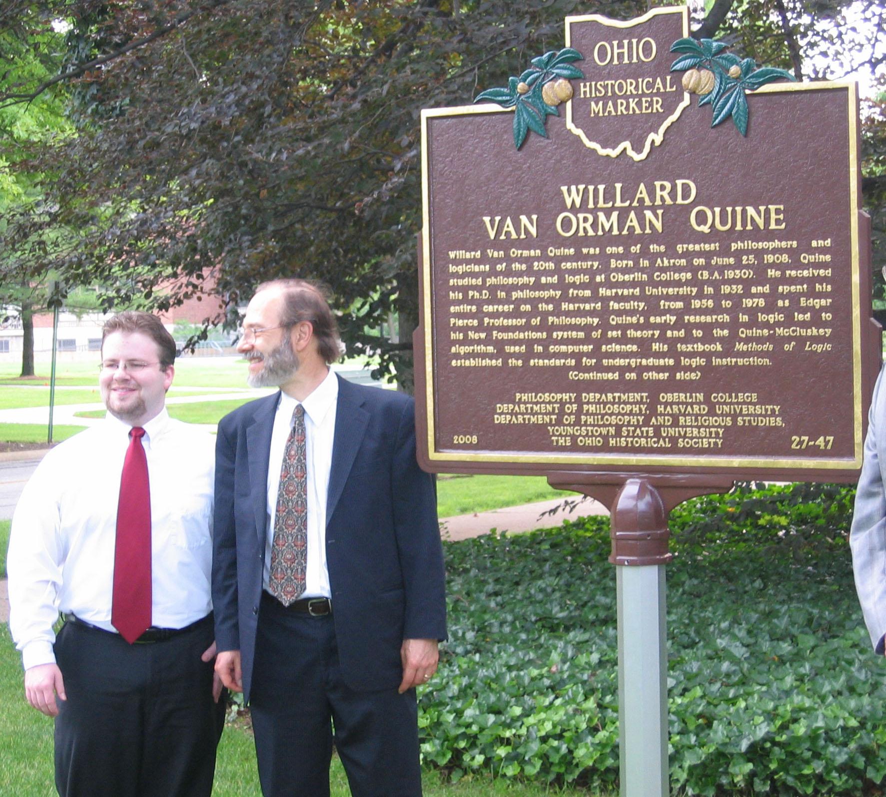 Willard Van Orman Quine Home Page By Douglas Boynton Short Circuit Tshirts Zazzle W V Marker