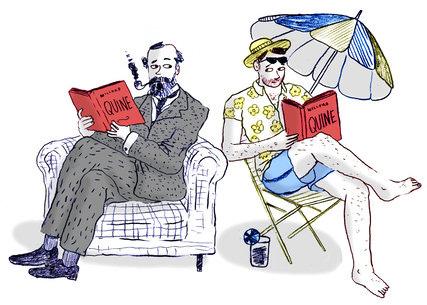 [Leif Parsons illustration of W. V. Quine]