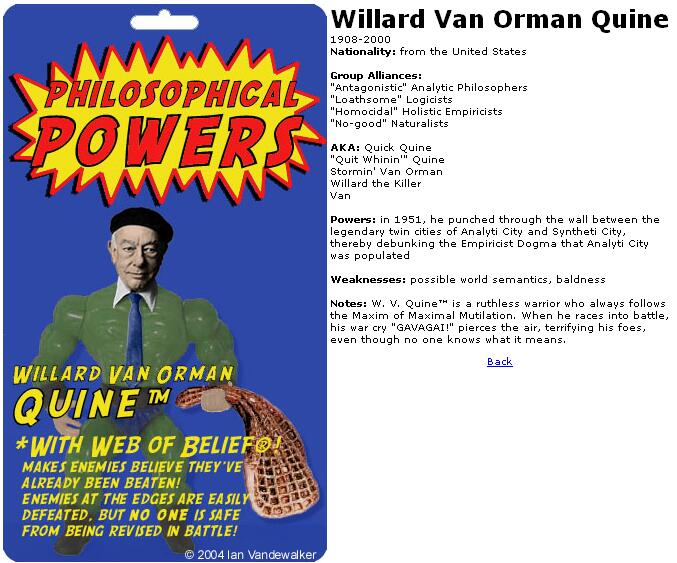Willard Van Orman Quine Action Figure by Ian Vandewalker