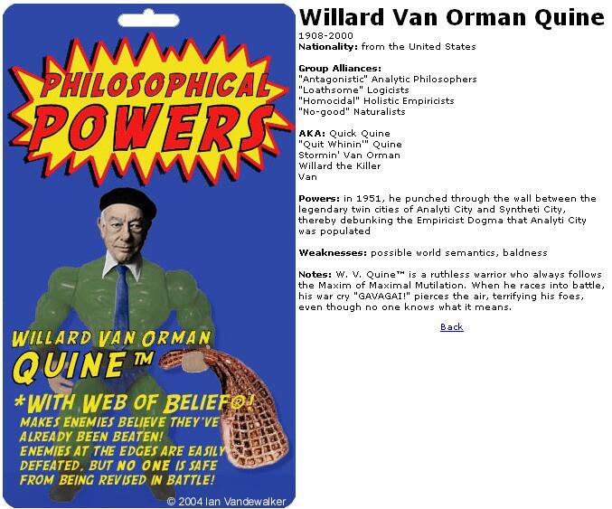 Willard Van Orman Quine Action Figure by Ian Vandewalker